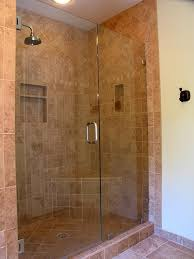 tiled shower neutral tile shower with bench in traditional