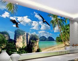 hd sea coconut tree eagle tv wall mural 3d wallpaper 3d wall 52