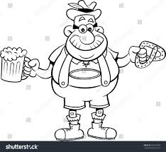 cartoon beer black and white black white illustration man holding beer stock vector 632919896