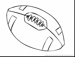 superb american football ball coloring pages with football