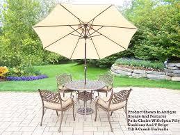 patio table chairs umbrella set