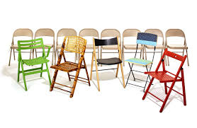 Stylish Folding Chairs Folding Chairs That Put The Cool In Collapsible Wsj
