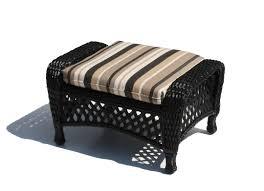 Black Wicker Patio Furniture by Outdoor Wicker Ottoman Montauk Shown In Black Wicker Paradise
