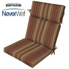 High Back Patio Chair Cushions Shop Allen Roth Stripe Chili Stripe Chili Stripe High Back Patio