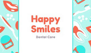 dental business card templates canva