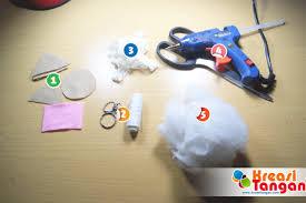 cara membuat gantungan kunci dari kain flanel bentuk kue tutorial cara membuat gantungan kunci dari kain flanel