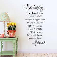 aliexpress com buy this family english proverbs wall stickers