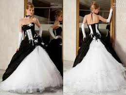 black and white wedding dresses cheap black and white gown wedding dresses