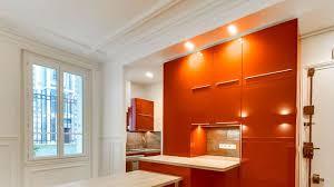 peinture orange cuisine stunning peinture blanc orange salon pictures amazing house design