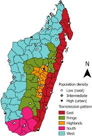 malaria transmission patterns in the districts of madagascar
