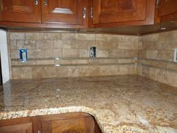 Glass Tile For Kitchen Backsplash Glass Tile Back Splash Grouted Limestone And Glass Backsplash