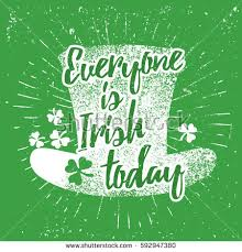 st patricks day quote typography lettering stock vector 592947380