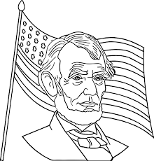 abraham lincoln president america coloring wecoloringpage
