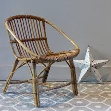 chaise vintage enfant petit fauteuil en rotin pour enfant lignedebrocante brocante en