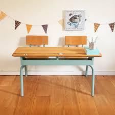 bureau d enfants bureau d enfant pupitre d écolier vintage rénové par chouette