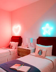 neon lighting for home lighting headboard neon lights in childrens room daring home