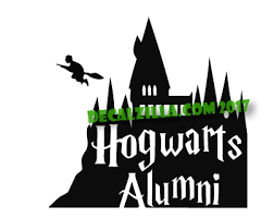 hogwarts alumni sticker harry potter hogwarts alumni decal sticker