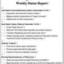 Weekly Accomplishment Report Template 40 employee accomplishment report sle functional meowings