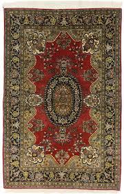 Fine Persian Rugs 5 X 7 Silk Wool Fine Persian Kashan Rug 14347