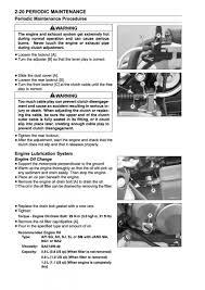 maintenance oil change procedure kawasaki z125 forum