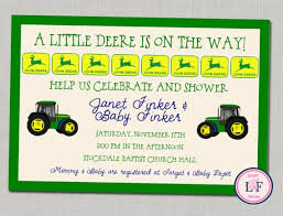 deere baby shower baby shower invitations deere theme