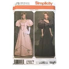 victorian era dress 1895 sizes 6 12 simplicity 4078 pattern