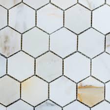Deko Ideen Hexagon Wabenmuster Modern Designer Marble Calacatta Gold Hexagon Mosaic 80mm Soho Tile