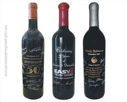 unique wine gifts custom wine bottles engraved with signatures unique retirement