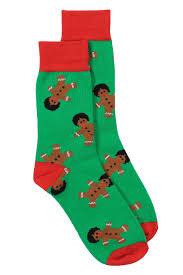 mens christmas socks women s afro gingerbread men socks tipsy elves