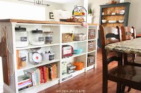 Diy Kitchen Shelving Ideas Amazing Idea Diy Bookcase Kitchen Island Golden Boys And Me