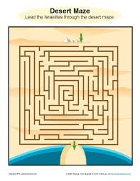 god led his people desert maze bible activities for kids great