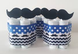 Diaper Cake Centerpieces by Mustache Diaper Cake Centerpieces Little Man Baby Shower