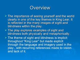 Blindness In The World Sight And Blindness In King Lear