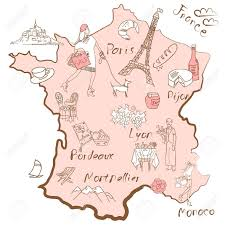 France Regions Map by Stylized Map Of France Things That Different Regions In France