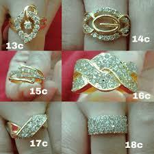 cincin lapis emas galeri produk detil cincin lapis emas permata sirkon bakar toko