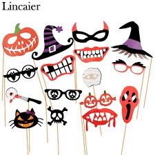 Photo Booth Accessories Aliexpress Com Buy Lincaier 10 16 22 Piece Halloween Decoration