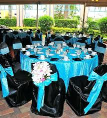 Wedding Reception Table Black And Teal Wedding Decorations Extraordinary Teal And Black