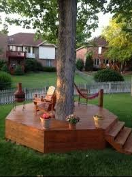 Best  Tree Deck Ideas On Pinterest Orchard Design Tree House - Backyard stage design