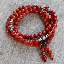 red wrap bracelet images Grounding 108 bead mala red jasper wrap bracelet or necklace jpg
