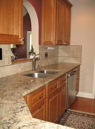 decorating marble countertops with glass subway backsplash