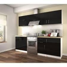 meuble cuisine noir laqué meuble cuisine laque noir achat vente pas cher