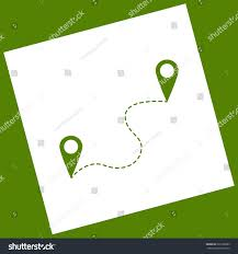 Navigation Map Location Pin Navigation Map Gps Sign Stock Vector 628156085