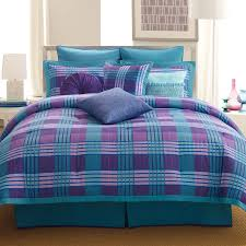teal and purple bedding decorate my house