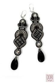 black dangle earrings black earrings