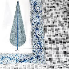 buy cypress tree block print bed sheet home artisan