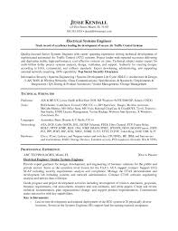 Sample Electronics Engineer Resume Control Systems Engineer Sample Resume Resume Sample