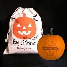 personalized halloween sack trick or treat sack halloween bag