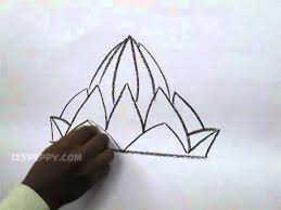 how to draw a lotus temple youtube