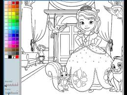 sofia coloring pages kids sofia coloring