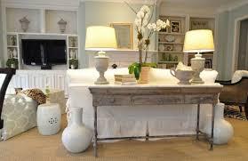 meuble derriere canapé table console adossée au canapé de salon plus de 50 idées